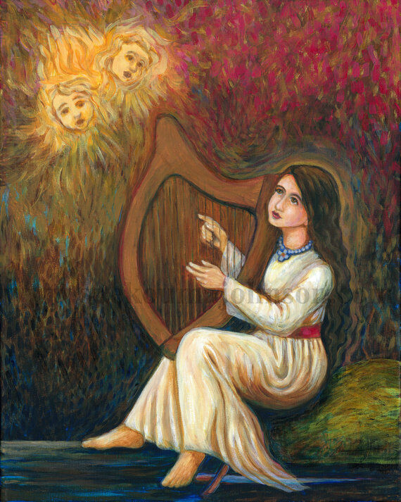 "ST. CECELIA—Patron of Music—11x14""—Catholic Art—Archival Print—Confirmation Gift"