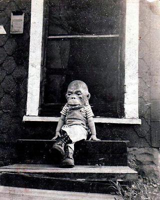 Antique Monster at the Door Photo 211 Bizarre Odd Strange
