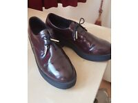 Deep Maroon Chunky Sole Shoes Size 39