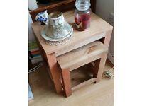 Oak Nest of Tables x2