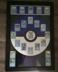 22 Rare Pokemon Squirtle Collector Cards and Frame