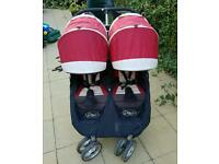 City mini baby jogger double pushchair