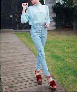 BRAND NEW Lolita Fashion Denim Heart Pants (Overalls) Kitchener / Waterloo Kitchener Area image 8
