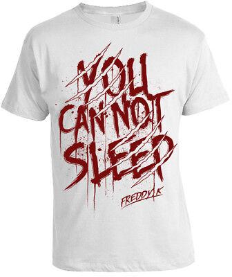 You Can't nicht Schlaf T-Shirt Herren Damen Halloween Gotik Freddy Alptraum ()