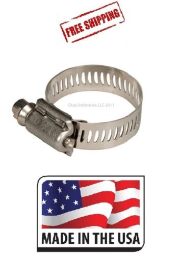 """(100) Miniature SAE 4 Hose Clamps 1/4"""" to 5/8"""" Fuel Line Stainless Band Tridon"""
