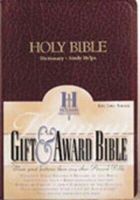 KJV Gift And Award Bible Burgundy Imitation Leather