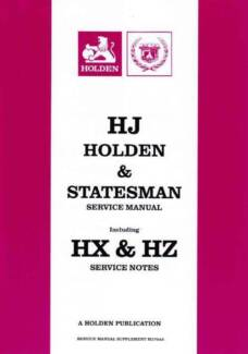 Hz holden workshop manual gumtree australia free local classifieds hj holden and statesman 1974 1980 factory service manual sciox Gallery