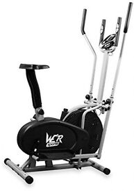 Dual cross trainer + bike and a rowing machine