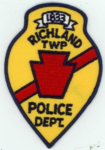 RICHLAND POLICE PENNSYLVANIA PA NEW PATCH SHERIFF