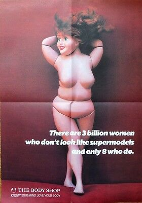 THE BODY SHOP  °° POSTER RUBY °°  ULTRA RARE and DELETED - NEW & UNUSED - BARBIE