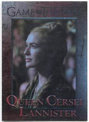 CERSEI LANNISTER LENA HEADEY 2015 GAME OF THRONES FOIL CARD # 51 RETTENHOUSE