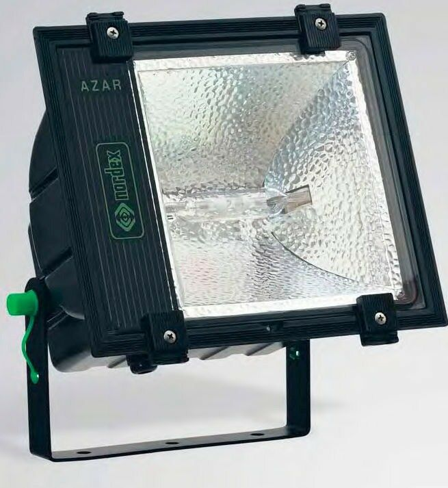 70W PROFESSIONAL Floodlight- AZAR Nordex Discharge Lamp IP65 Weatherproof Black