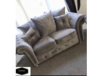 COMFY FOAM PLUSH VELVET SOFAS AVAILABLE WITH FREE DELIVERY