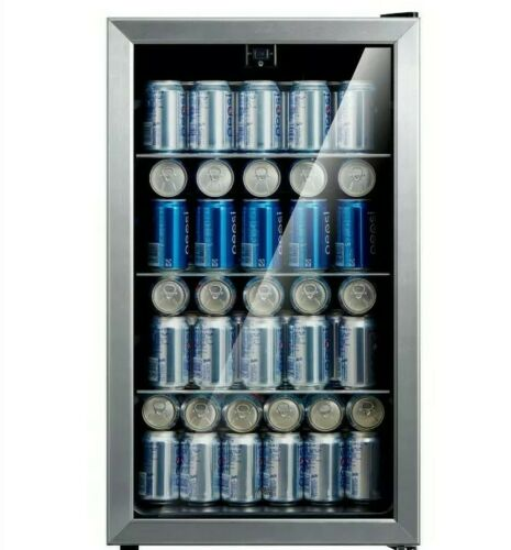 EMERSON 115 Can Beverage BEER SODA Cooler Stainless Steel MI