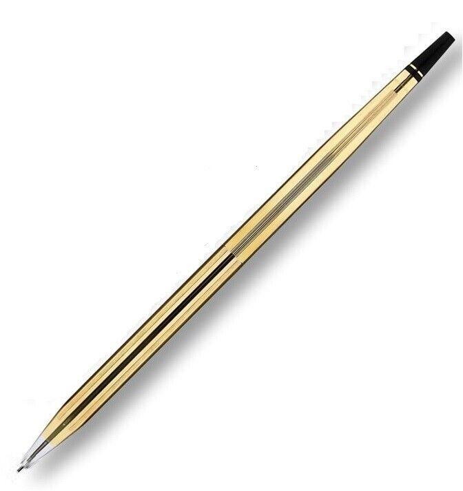 Cross Desk Pen Set Replacement, .5mm Mechanical Pencil, 10K Gold Filled, USA Ballpoint Pens