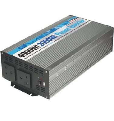 DC - AC 2000W Battery 230V Mains Power Inverter Mobile Supply T5 T6 4000W Peak