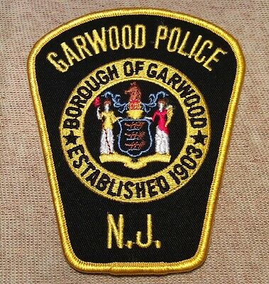NJ Garwood New Jersey Police Patch