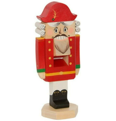 "11.4"" Real Wooden Nutcracker Will Crack Nuts! Handmade Christmas Figurine"