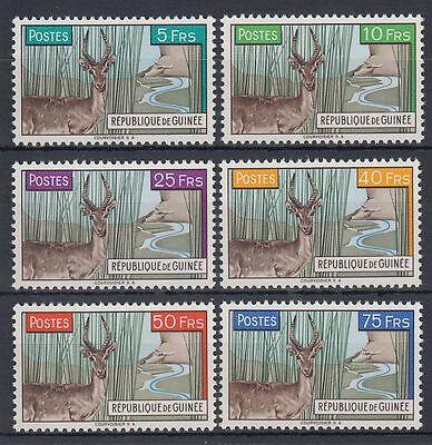 GUINEA GUIN E 1961 MI 71 76 TIERE ANIMALS RIEDBOCK REEDBUCK SQ4609