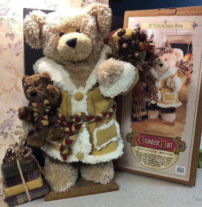 "2000 GRANDEUR NOEL 31"" LARGE  CHRISTMAS BEAR Millennium Limited Edition"
