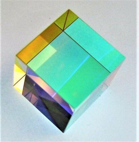 Optical Glass Crystal Cube RBG Dispersion Prism Light Spectrum Physics Art 22mm
