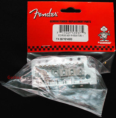 "Genuine Fender ""Big Block"" Mexican Chrome Tremolo Bridge for Strat/Stratocaster on Rummage"