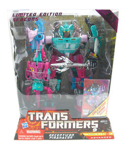 Transformers G1 Decepticon Piranacon Seacons Limited Edition Figure