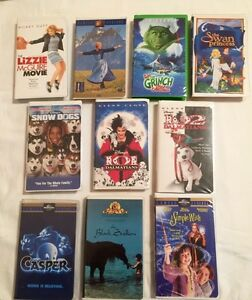 10 VHS Movies for VCR
