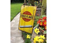 "Enamel Advertising sign genuine vintage ""Gold Flake"" large size"