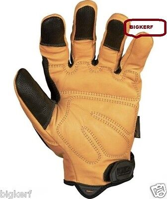 GLOVES   MECHANIX WEAR ALL LEATHER   WORK - SPORT - RIDING   LARGE   CG50-75-010