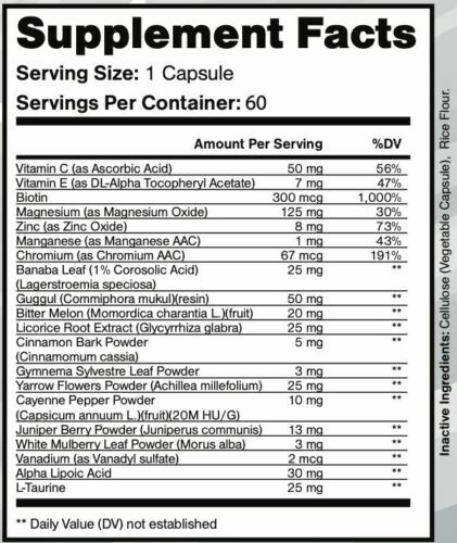 2 Bottles DIABACORE Blood Sugar and Glucose Support Supplement - 60 Capsules 3