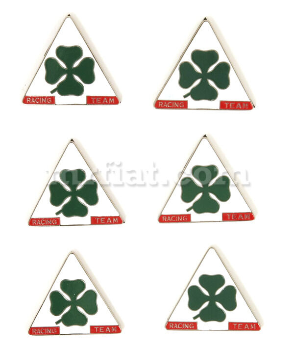 Alfa Romeo Quadrifoglio Triangle Emblem Set Emblem New