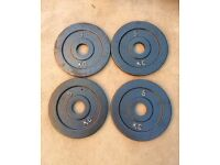 20kg 4x5kg ULTRA SLIM OLYMPIC CAST IRON WEIGHT PLATES