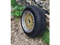 """Full set of genuine 13"""" bbs mahle for mk1 mk2 golf and polo and tyres"""