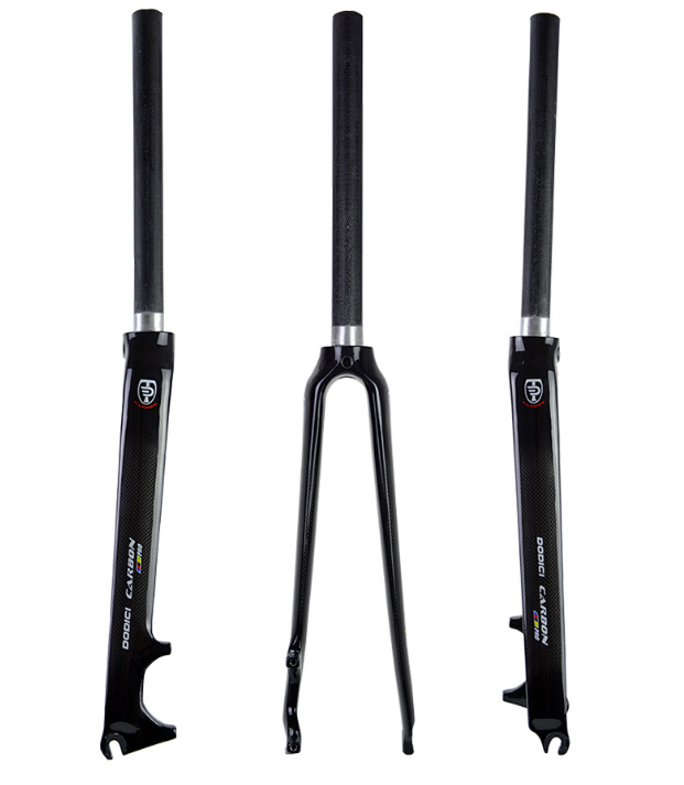 "Carbon Fiber Road Bike Fork 700C Dead Flying Fork Disc Brake 1-1//8/"" Bike Rigid"