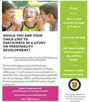 Participate in Child Development Research!