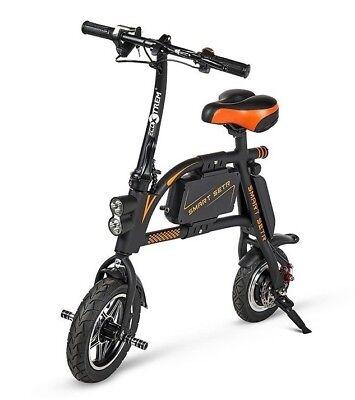 Mini bici bicicleta electrica moderna comoda y ligera scooter urbano color negra