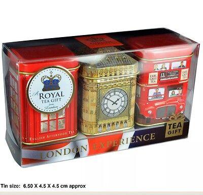 Ahmad Tea London Experience English Afternoon, Breakfast, Earl Grey Loose Teas