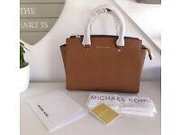 NEW Genuine Michael Kors Selma Large Handbag in Luggage colour