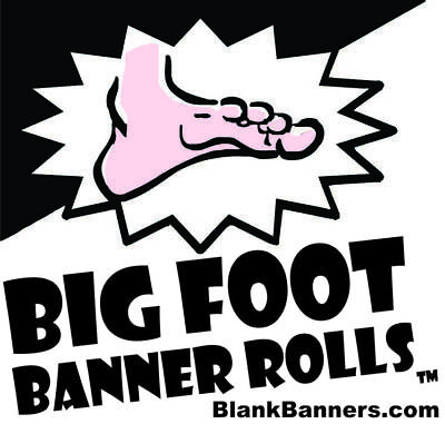 Big Foot Banner Roll Make Banners By The Foot. 48 X 20 Yards. Made In Usa 13oz