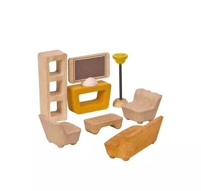 NEW Plan TOYS Plan Activity Living Room-7606 Made In Thailand- Organic Color