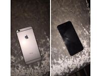 iPhone 6 space grey 16gb thin crack in the top of the screen doesn't affect the phone fully working