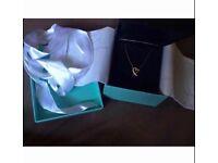 Tiffany & Co 18k Yelow Gold Paloma Picasso Loving Heart Diamond Necklace