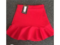 Red pretty little thing skirt