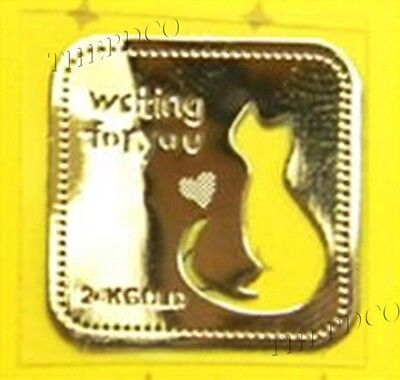 TPD 24K Gold Plated Anti Radiation Block Shield Cats Cell Phone Sticker Cat