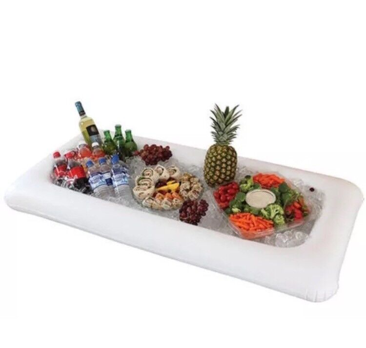 Inflatable Table Top Salad Bar Buffet Ice Cooler Picnic Camping As Seen On Tv