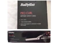 New- BaByliss Curling Tongs