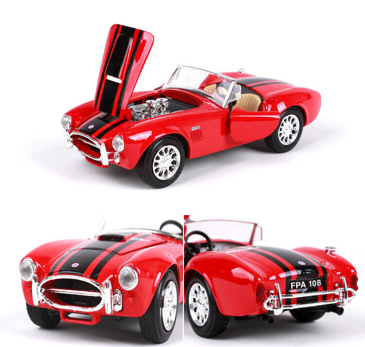 RED 1:24 1965 SHELBY COBRA 427 S//C COLLECTION DIECAST DIE-CAST MODEL CAR CARS