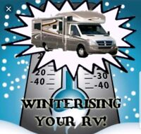 Mobile RV winterizing - Great rates!!!