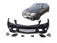 Mercedes W204 S204 Front Bumper AMG C63 Design +Mountings + Fog lights 07-11